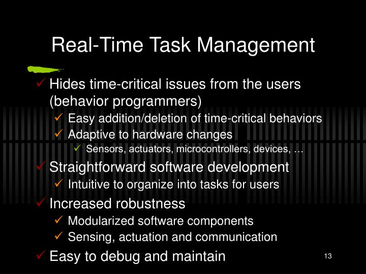 Real-Time Task Management