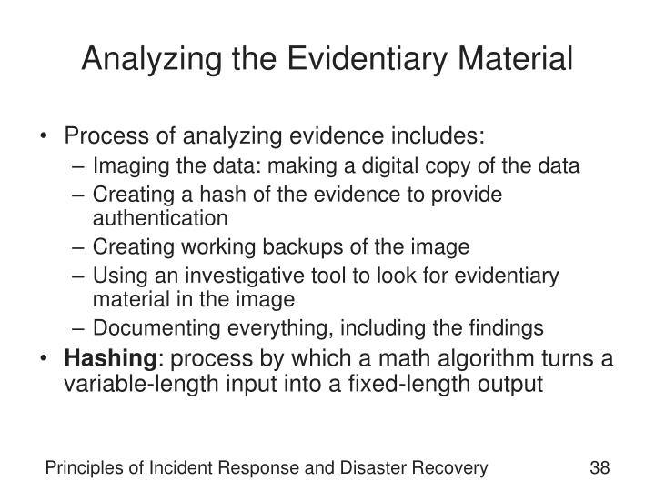 Analyzing the Evidentiary Material
