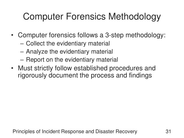 Computer Forensics Methodology
