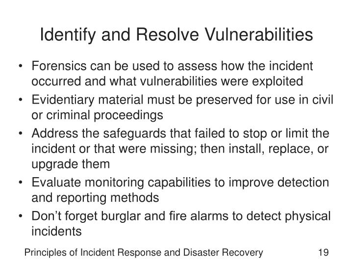 Identify and Resolve Vulnerabilities