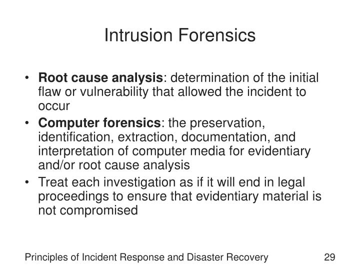 Intrusion Forensics