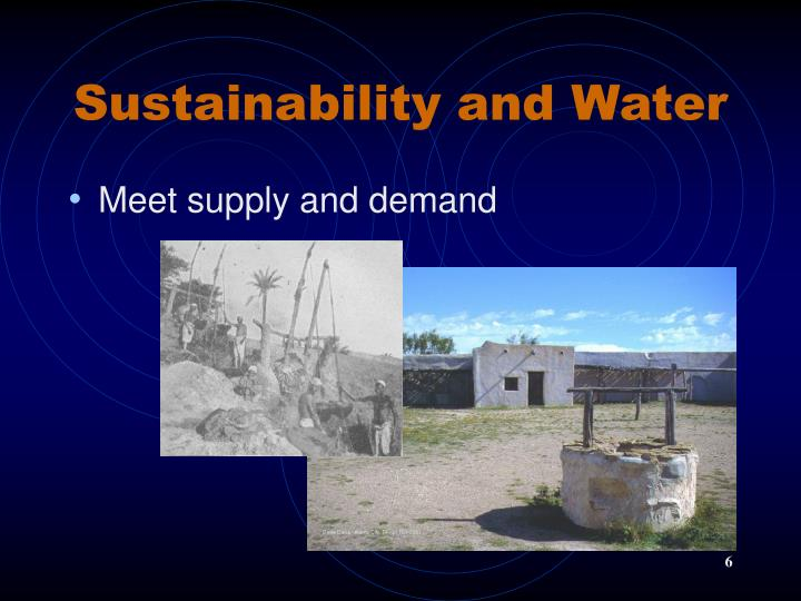 Sustainability and Water