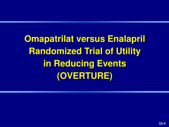 Omapatrilat versus Enalapril Randomized Trial of Utility