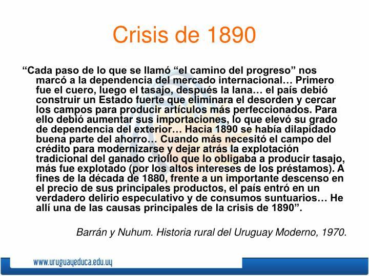 Crisis de 1890