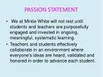 passion statement
