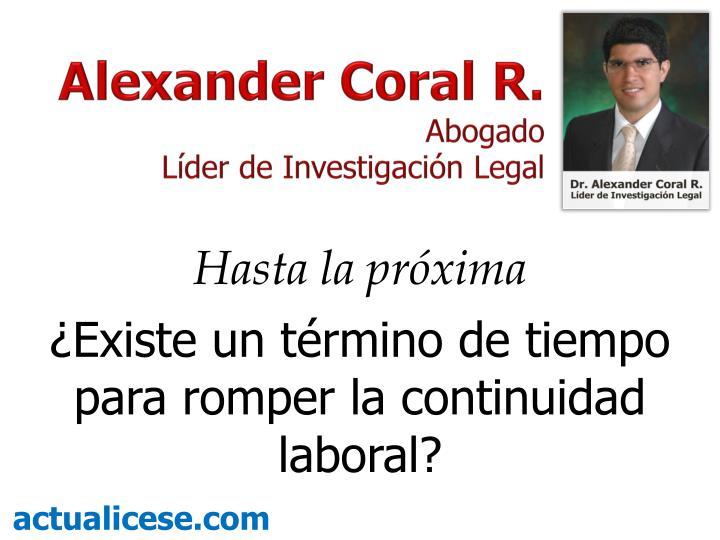 Alexander Coral R.