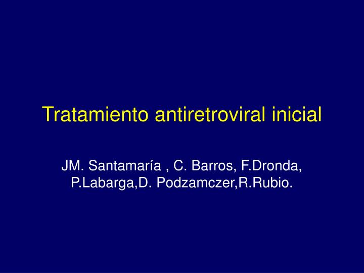 Tratamiento antiretroviral inicial