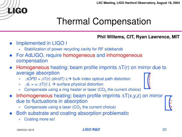 Thermal Compensation