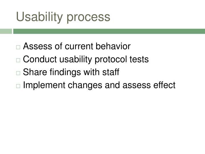 Usability process