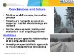 conclusions and future