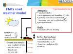 fmi s road weather model