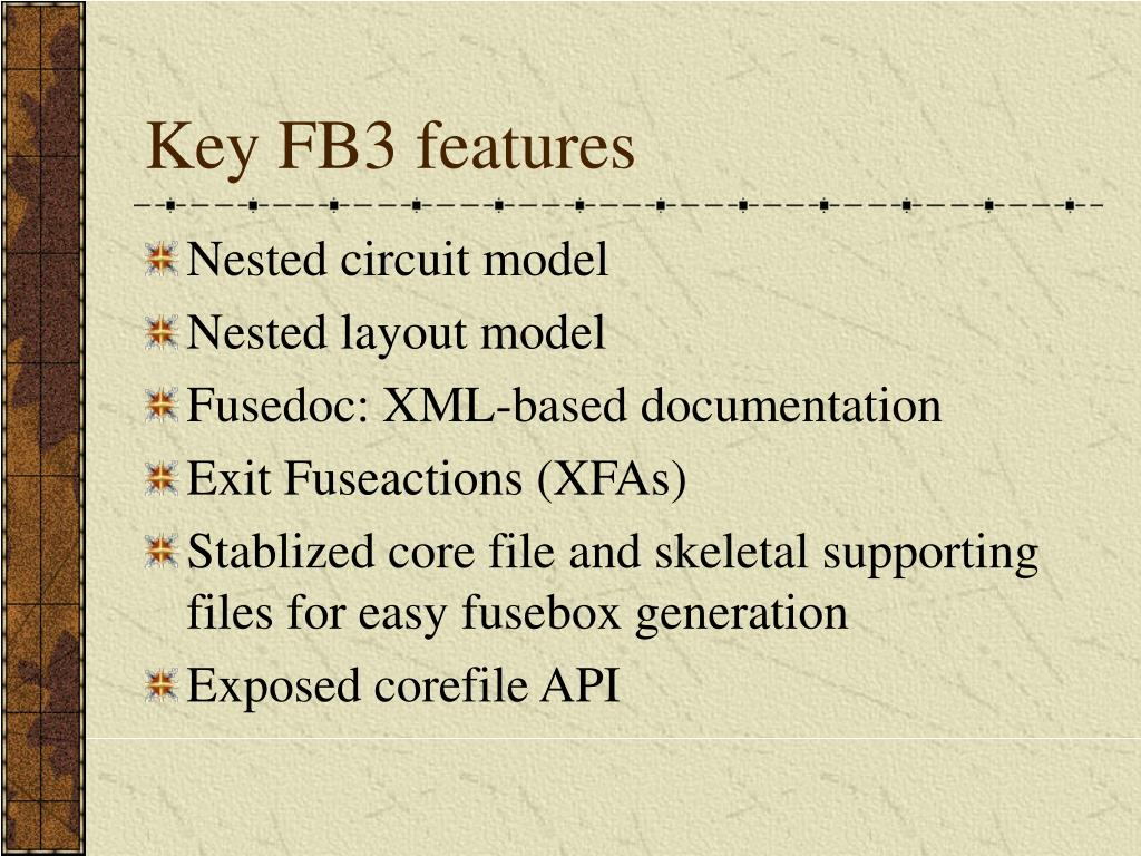 Key FB3 features