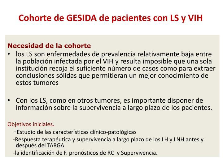 Cohorte de GESIDA de pacientes con LS y VIH