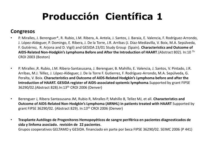 Producción  Científica 1