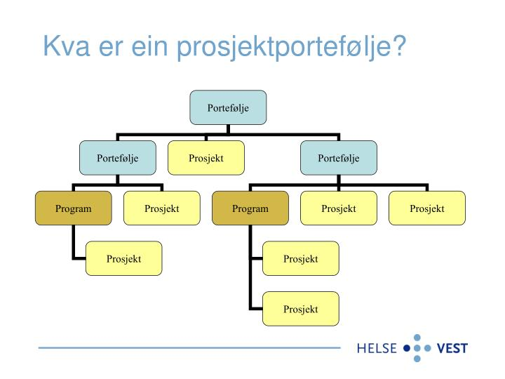 Kva er ein prosjektportefølje?
