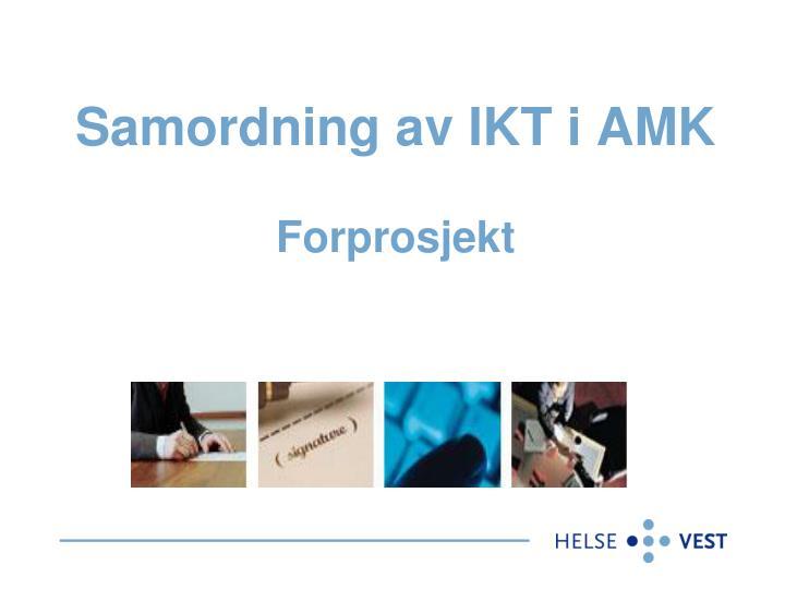 Samordning av IKT i AMK