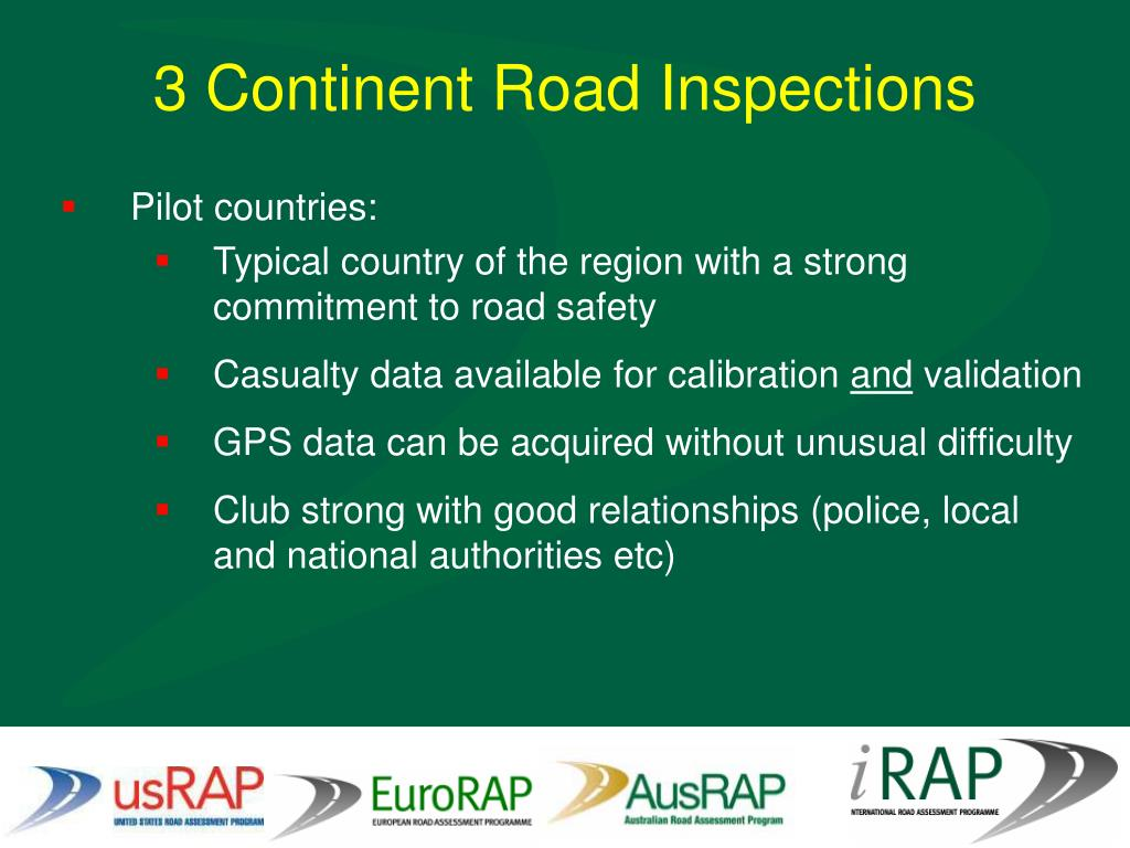 3 Continent Road Inspections