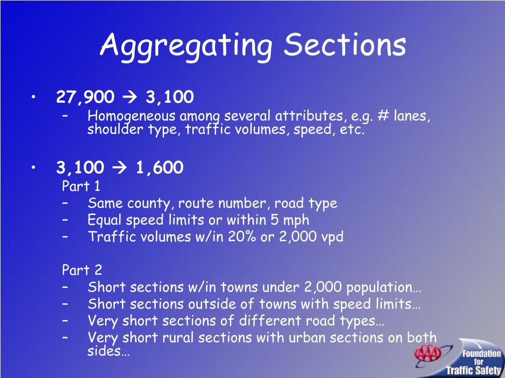 Aggregating Sections