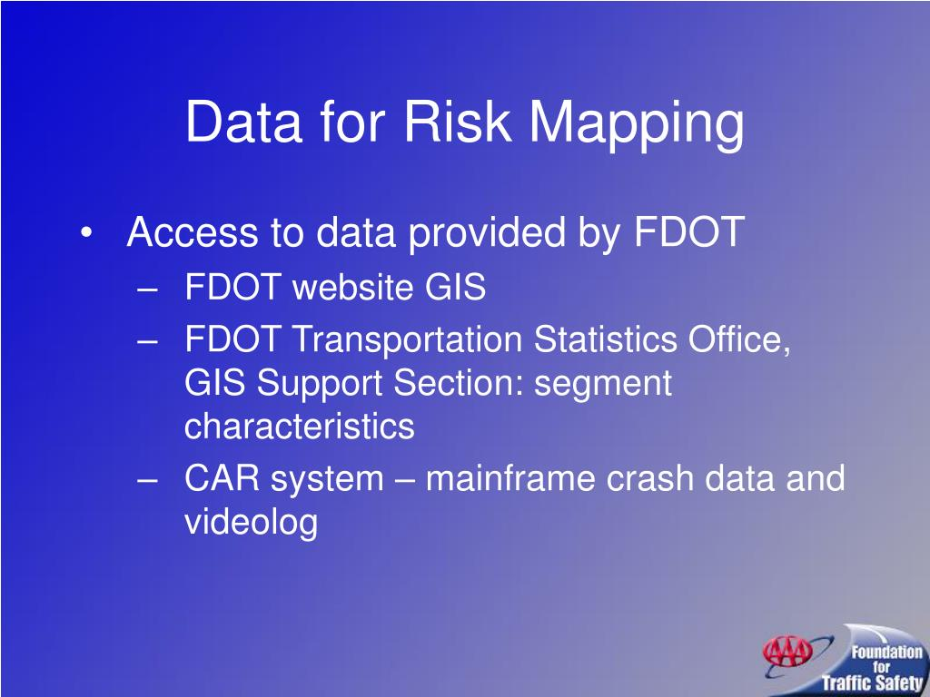 Data for Risk Mapping