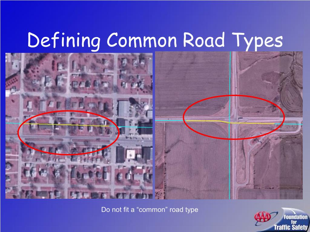 Defining Common Road Types
