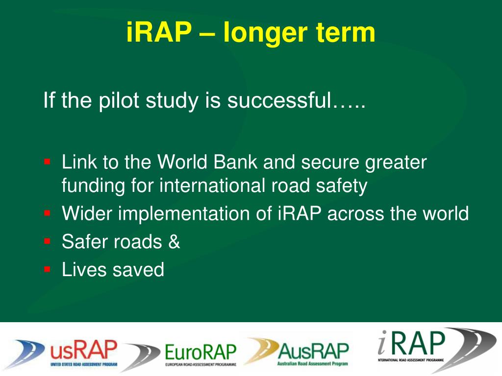 iRAP – longer term