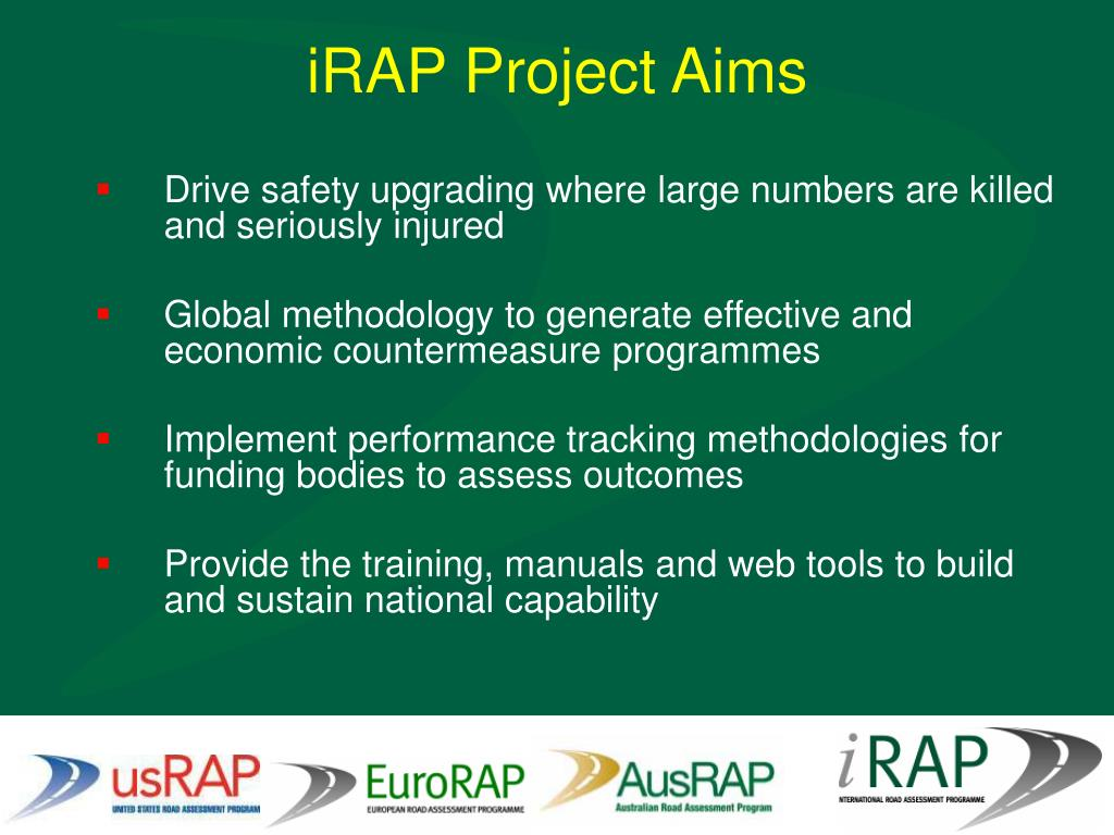 iRAP Project Aims
