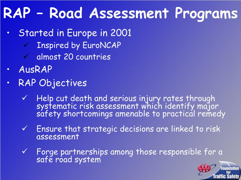 RAP – Road Assessment Programs