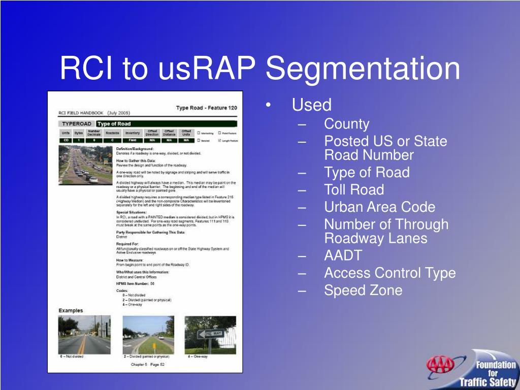 RCI to usRAP Segmentation