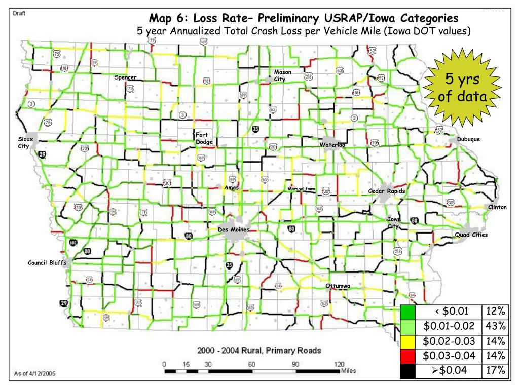 Map 6: Loss Rate– Preliminary USRAP/Iowa Categories