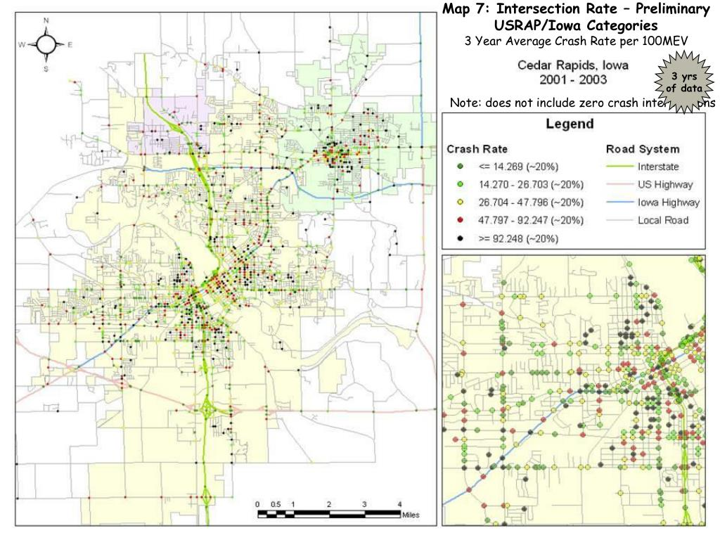 Map 7: Intersection Rate – Preliminary USRAP/Iowa Categories