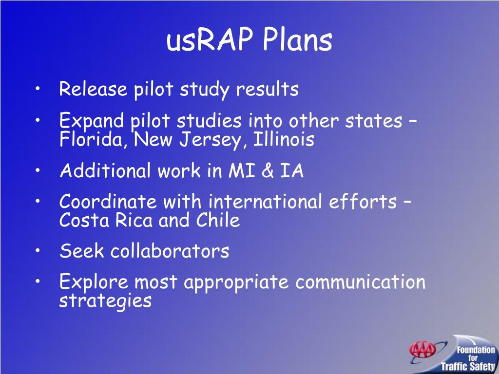 usRAP Plans