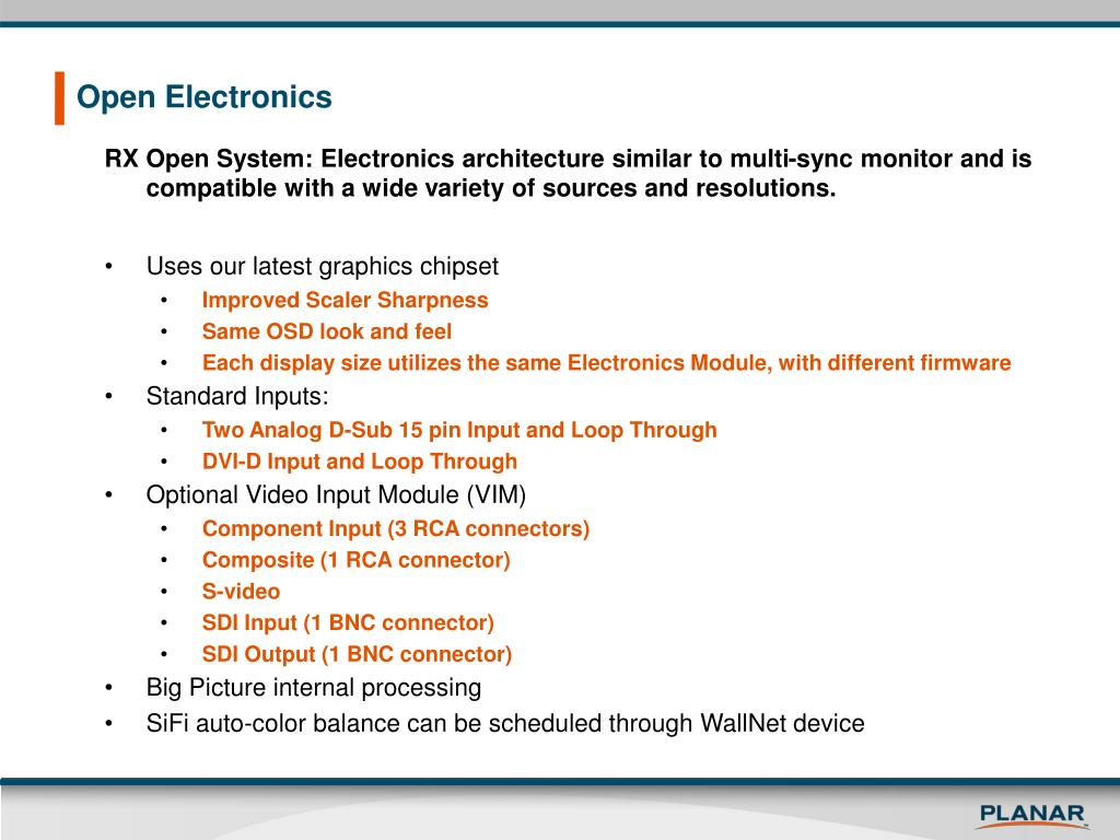 Open Electronics