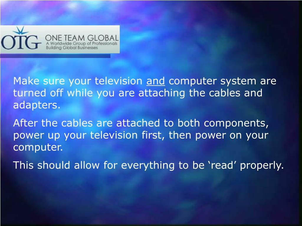 Make sure your television