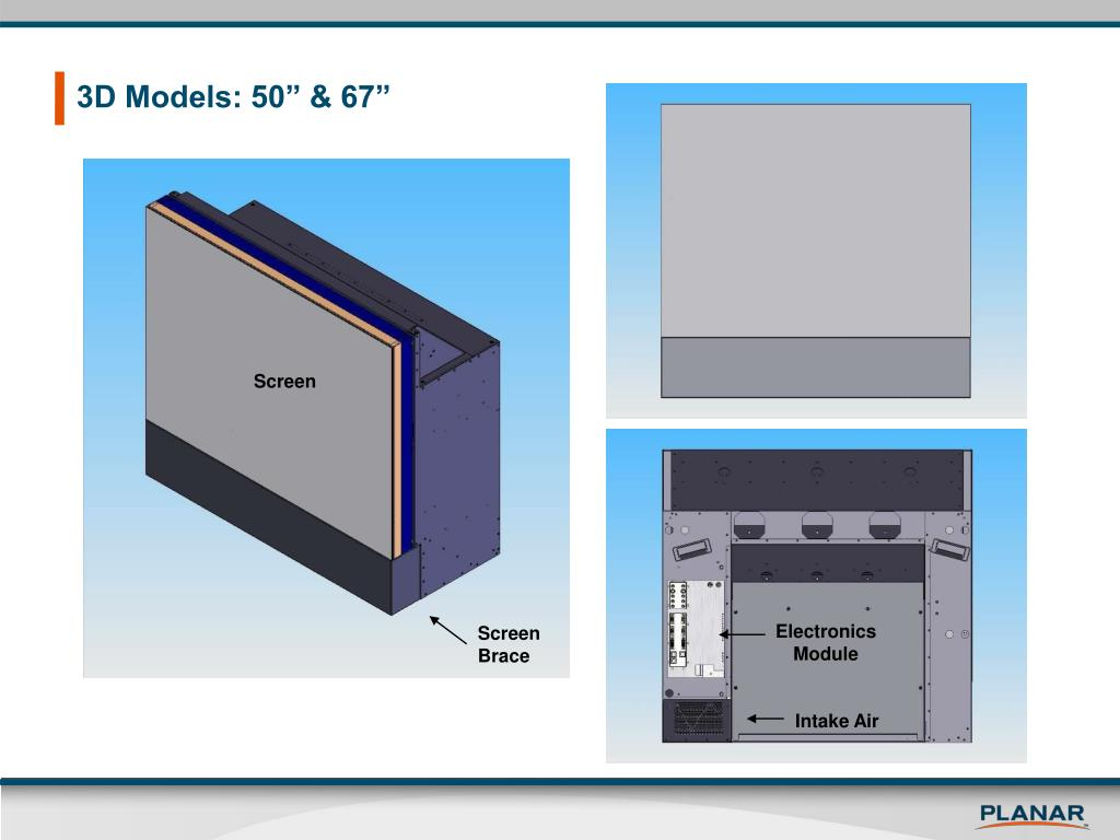 """3D Models: 50"""" & 67"""""""