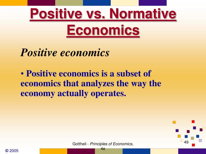 Positive vs. Normative Economics
