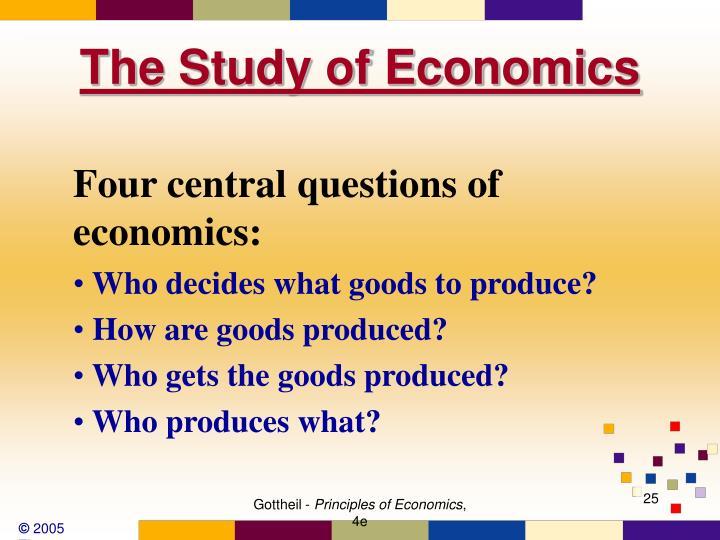 The Study of Economics