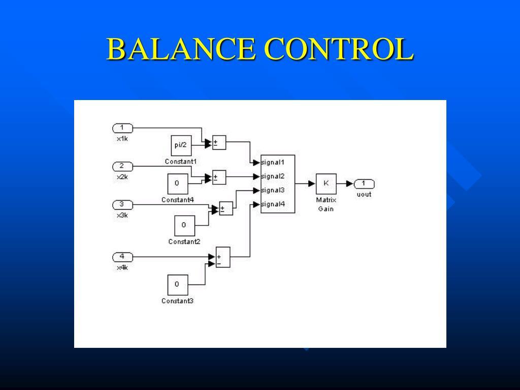 BALANCE CONTROL