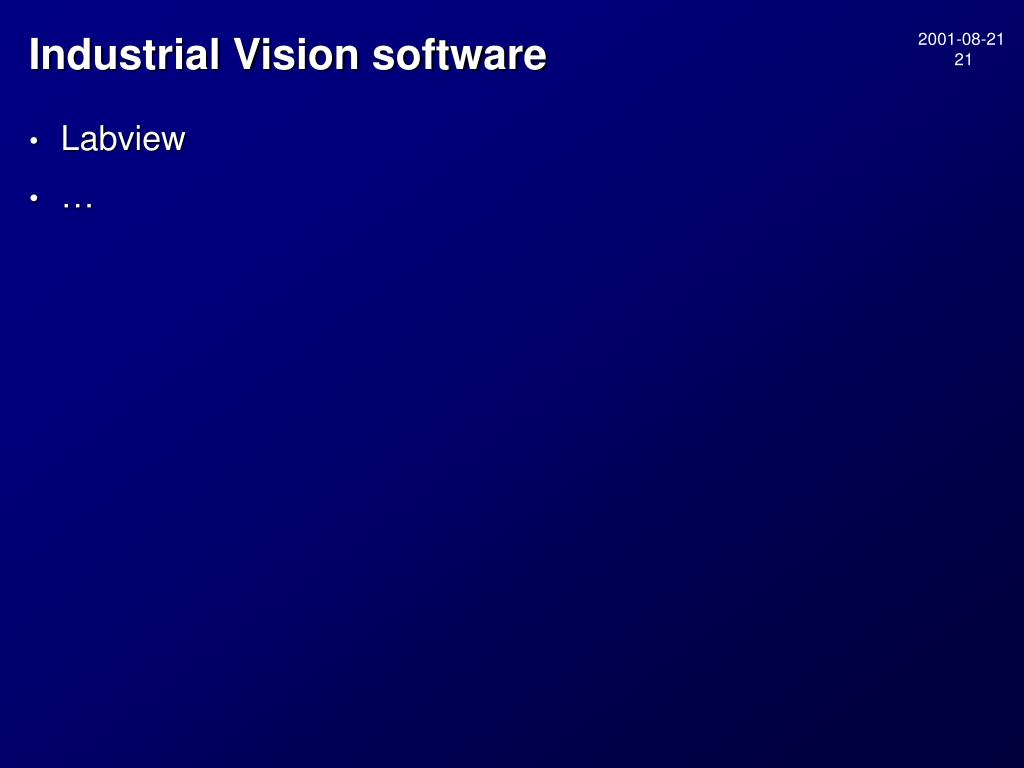 Industrial Vision software
