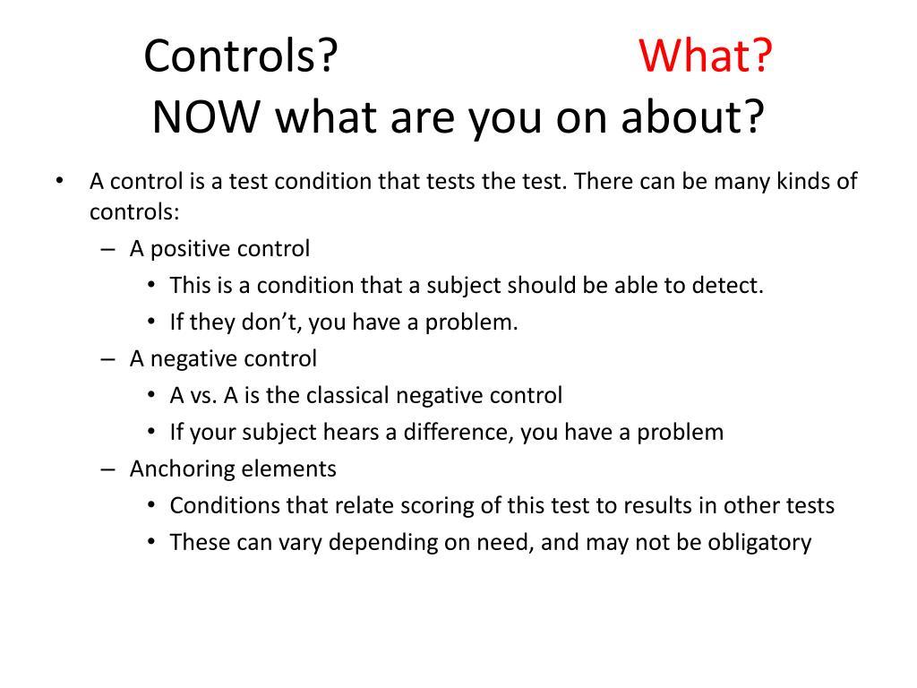 Controls?