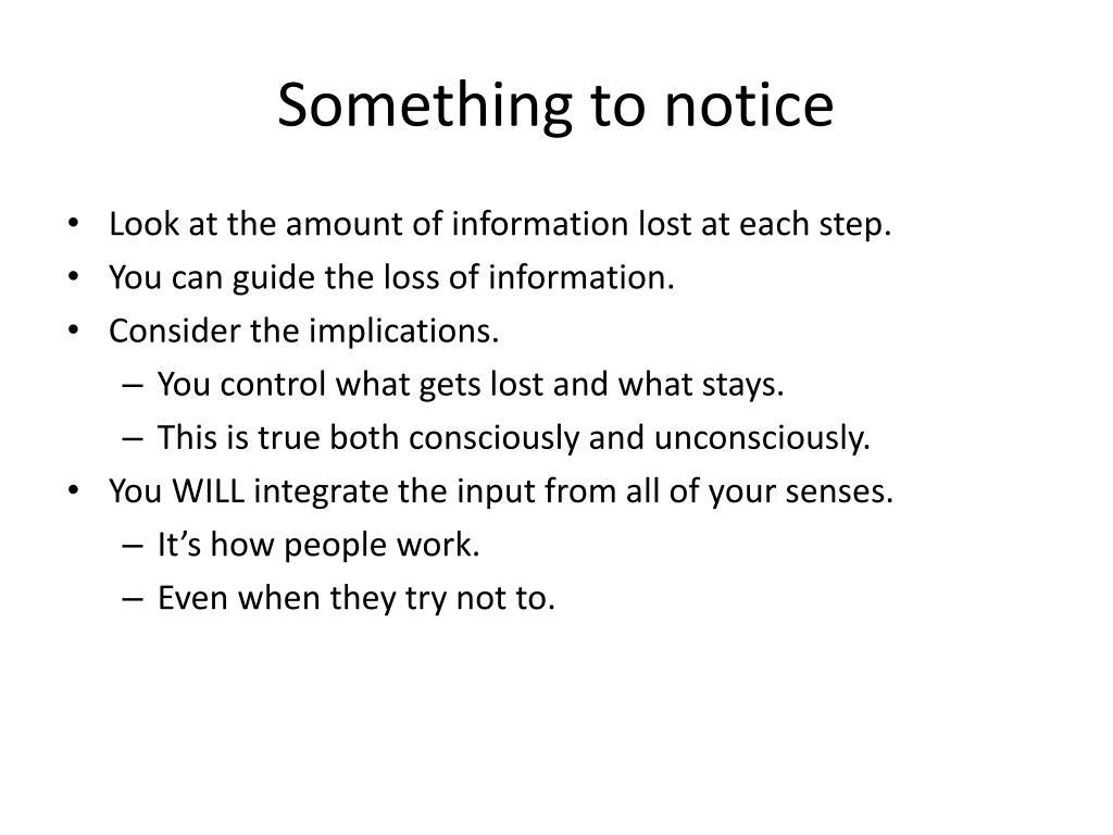 Something to notice