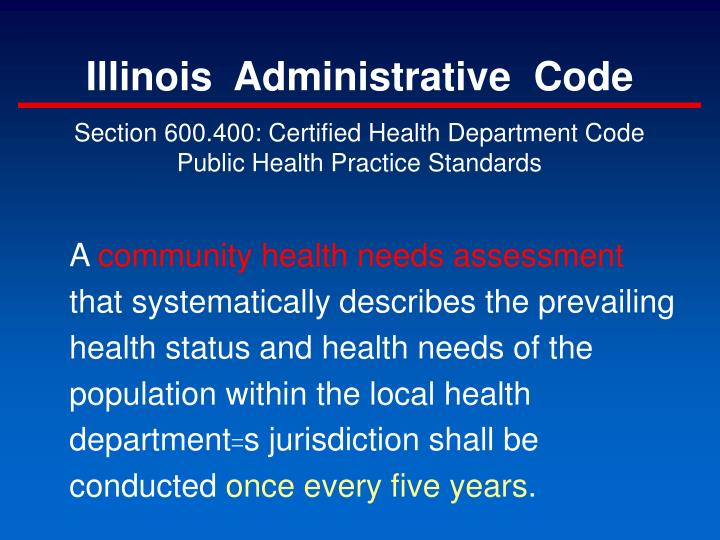 Illinois  Administrative  Code