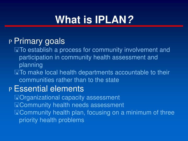 What is iplan