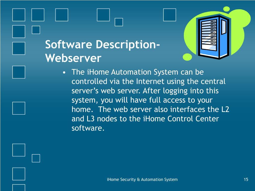 Software Description-