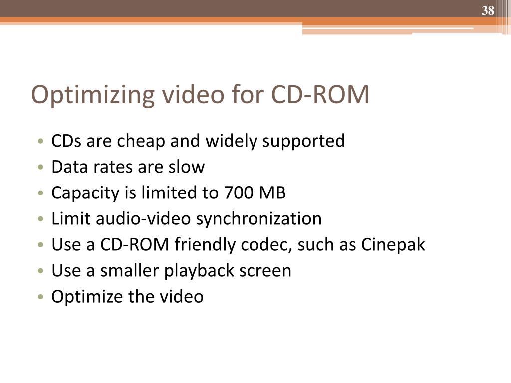 Optimizing video for CD-ROM