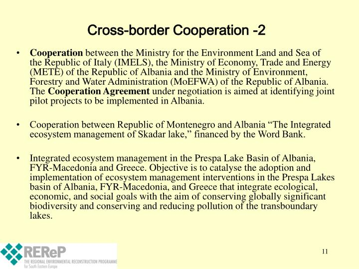 Cross-border Cooperation -2