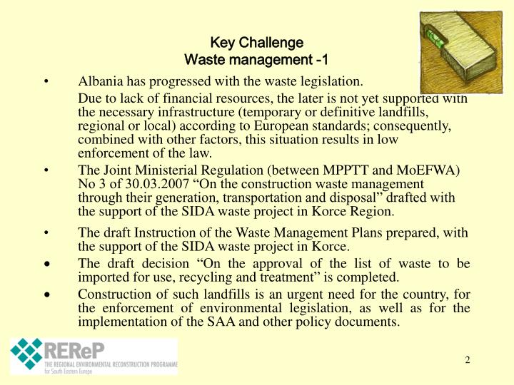Key challenge waste management 1