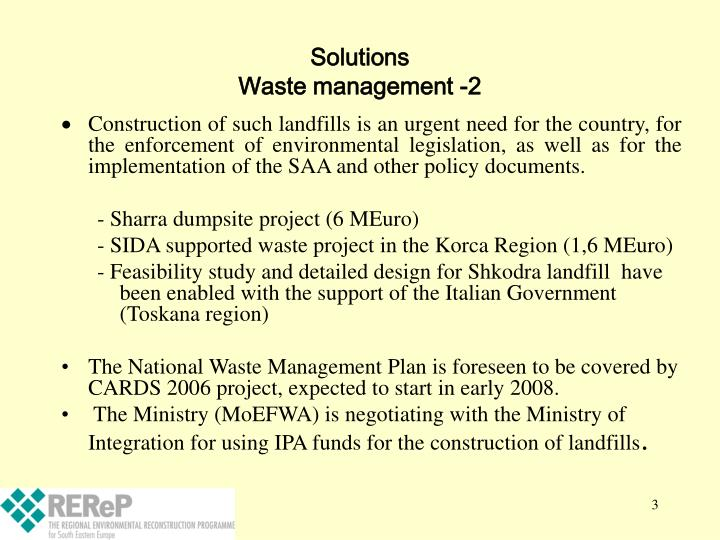 Solutions waste management 2