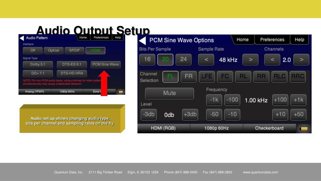 Audio Output Setup