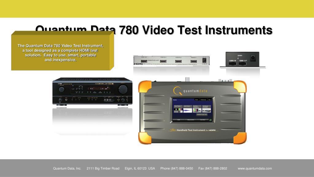 Quantum Data 780 Video Test Instruments