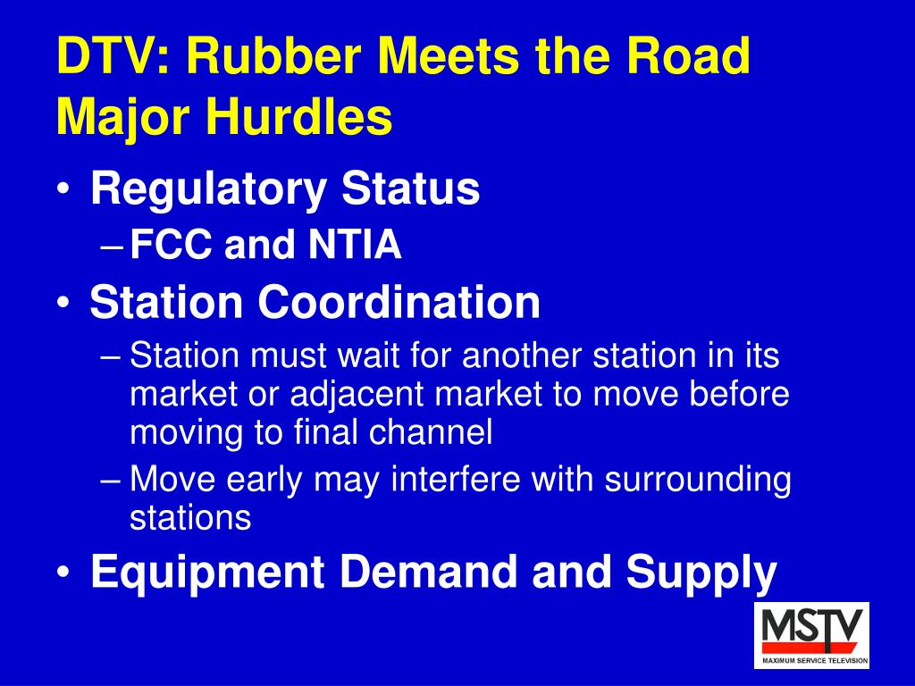 DTV: Rubber Meets the Road